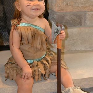 Etsy Handmade Costumes Baby 1218 Mos Pocahontas Indian Leather